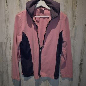 Hot Cotton Marc Ware pink and denim hooded jacket